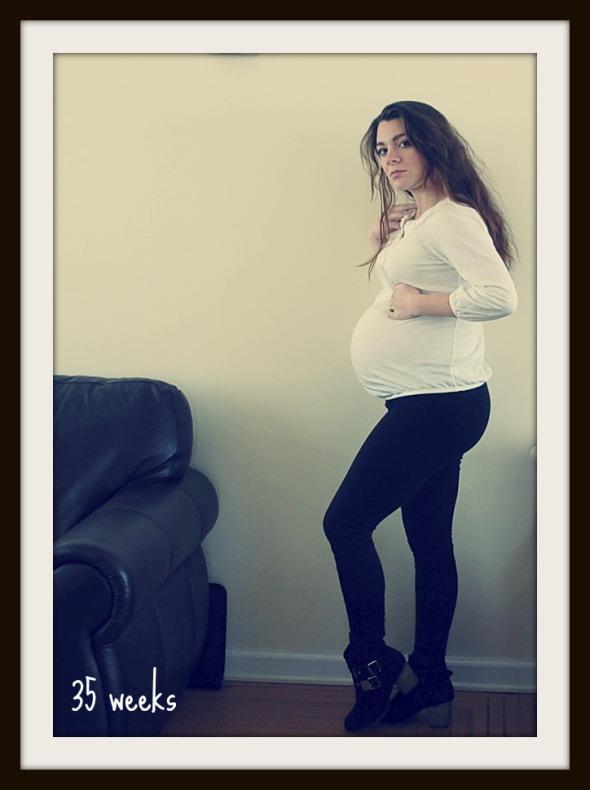 35 week belly