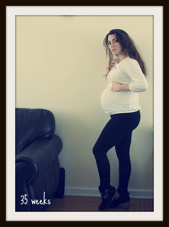 35 week belly